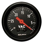 Auto Meter 2610 Z-Series Mechanical Vacuum Gauge, 2-1/16 Inch
