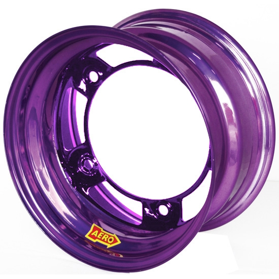 Aero 51-900570PUR 51 Series 15x10 Wheel, Spun 5 on WIDE 5, 7 Inch BS