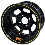 Aero 55-174530 55 Series 15x7 Wheel, 4-lug, 4 on 4-1/2 BP, 3 Inch BS