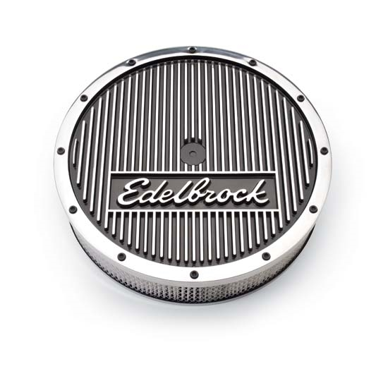 Edelbrock Air Cleaner : Edelbrock elite series aluminum air cleaner assembly