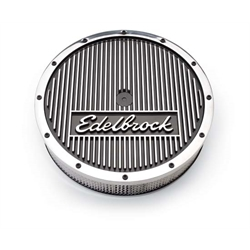 Edelbrock 4221 Elite Series Aluminum Air Cleaner Assembly,Round,3.5in.