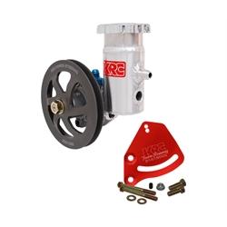 Garage Sale - KRC Pro Aluminum SBC Pump Kit, V-Belt, Block Mount, Bolt-On Reservoir