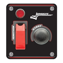 Longacre 44863 Aluminum Flip-Up Ignition Start Panel w/ Pilot Light