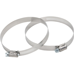 Stainless Steel Hose Clamps, 2-1/2 Inch - 4 Inch Hose, 2 Pack