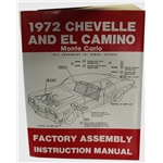 Dave Graham Factory Assembly Instruction Manual, 72 Chevelle/El Camino