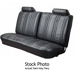 PUI 68AS10C Rear Seat Upholstery, 68 Chevelle Coupe, Black