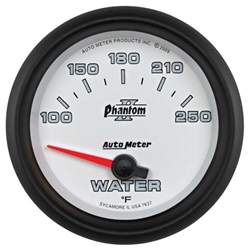 Auto Meter 7837 Phantom II Air-Core Water Temp Gauge, 2-5/8 Inch
