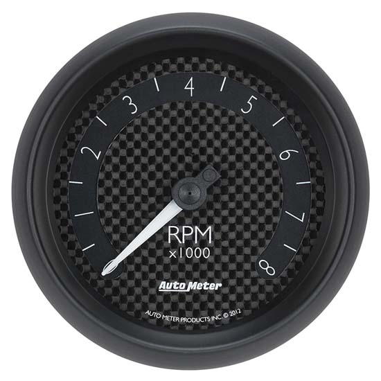 Auto Meter 8097 GT Air-Core In-Dash Tachometer Gauge, 3-3/8 Inch