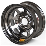 Aero 50-925040BLK 50 Series 15x12 Wheel, 5 on 5 Inch BP, 4 Inch BS