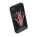 Pinstriped iPhone Cover - Black