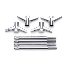 Edelbrock 4400 Valve Cover Wing Bolt Kit, 3.750 Inch length, Set of 4
