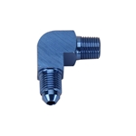 90 Degree Flare Adaptor, AN3 to 1/8 Inch NPT