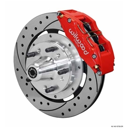 Wilwood 140-10739-DR DP6 12.19 Inch Front Brake Kit, 1937-48 Ford, Red