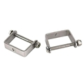 Stainless Steel Spring Clamps, 2-1/4 Inch Wide Leaf Spring