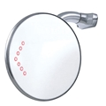 4 Inch Peep Mirror with LED Turn Signal