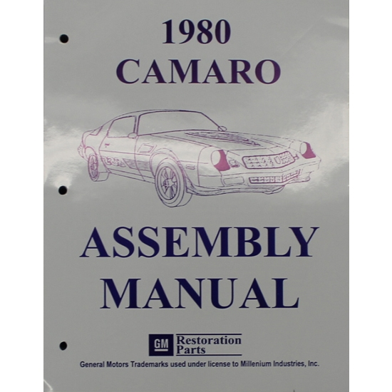 1980 Camaro Assembly Manual