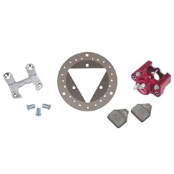 Ultra Lite Midget Left Front Brake Kit, Round Rotor