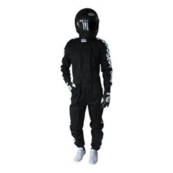 Garage Sale - Finishline Qualifier Racing Suit, One Piece, Single Layer, SFI-1, Black, Size XXXL