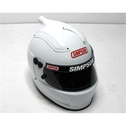 Garage Sale - Simpson Shark Air SA10 Racing Helmet, White, Size 7-1/4