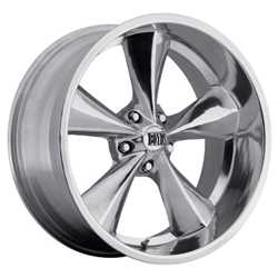 Boyds Wheels BC1-886545P Junkyard Dog 18x8 Polished Wheel, 5 on 4-1/2