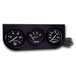 Auto Meter 2397 Auto Gage 3 Gauge Console, Oil/Volt/Water
