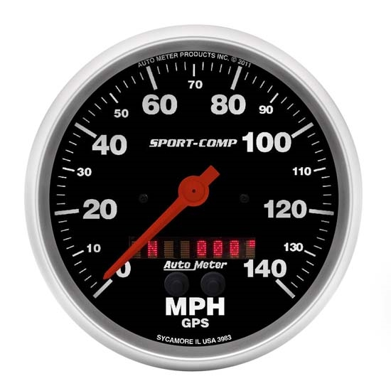 Auto Meter 3983 Sport-Comp Air-Core GPS Speedometer, 140 MPH, 5 Inch
