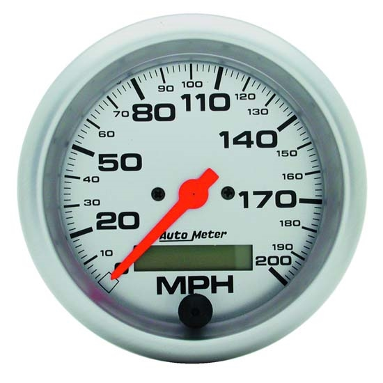 Auto Meter 4486 Ultra-Lite Air-Core Speedometer, 200 MPH, 3-3/8 Inch