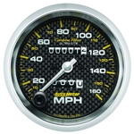 Auto Meter 4793 Carbon Fiber Mechanical Speedometer Gauge, 3-3/8 Inch