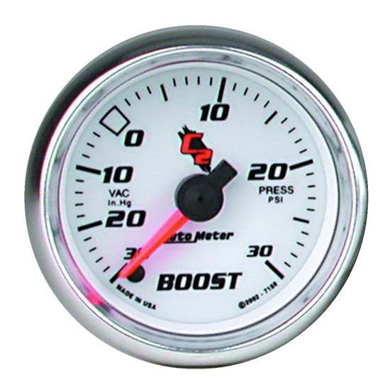 Auto Meter 7159 C2 Digital Stepper Motor Boost/Vacuum Gauge