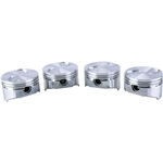 KB 2.3 Ford Hypereutectic Pistons, Flat Top, 5.205 Rod