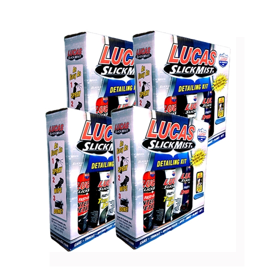 lucas 10558 slick mist car care detailing kit case of 4 ebay. Black Bedroom Furniture Sets. Home Design Ideas