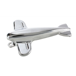 Pedal Car Parts, Airplane Hood Ornament, Chrome
