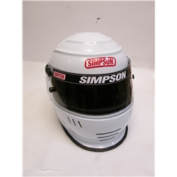 Garage Sale - Simpson Shark SA10 Racing Helmet, White, Size 7