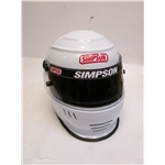 Garage Sale - Simpson Shark SA10 Racing Helmet, White, Size 7