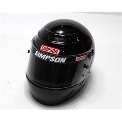 Garage Sale - Simpson Voyager Evolution SA2010 Racing Helmet, Black, Size 7-1/8