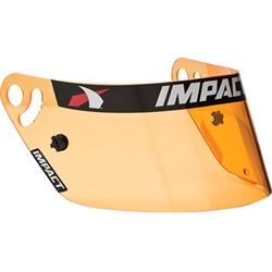 Impact Racing 12199904 Amber Vapor Helmet Shield, Fog Free