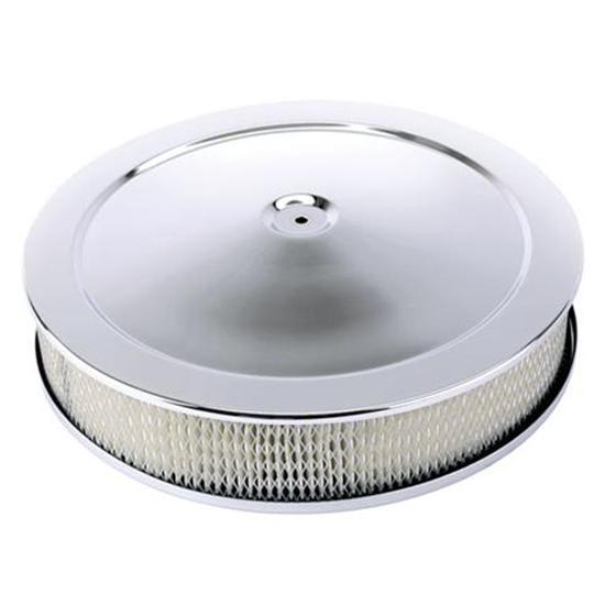 Four Bbl Carb Air Cleaners : Chrome deep dish performance air cleaner inch