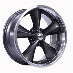 Boyds Wheels BC1-886145G Junkyard Dog 18x8 Gray Wheel, 5 on 4-3/4