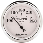 Auto Meter 1638 Old-Tyme White Air-Core Water Temperature Gauge