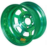 Aero 51-904555GRN 51 Series 15x10 Wheel, Spun, 5 on 4-1/2, 5-1/2 BS