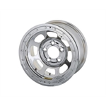 Bassett 51SC4SL 15X11 DHole Lite 5on4.75 4 In BS Silver Beadlock Wheel