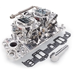 Edelbrock 20674 RPM Air-Gap Dual-Quad Intake Manifold/Carburetor Kit