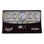 Lokar BDI-9139 Goolsby Edition 5 Gauge Dash Insert, 3-3/8 In, Mother of Pearl