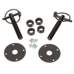 Black Aluminum Hood Pin Kit with Q-Clips