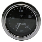 Stewart Warner 82325 Deluxe 2-1/16 Mech Fuel Pressure Gauge 10-200 PSI