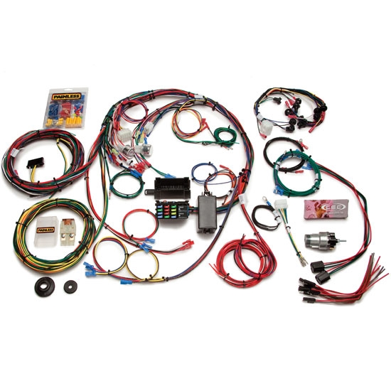 painless wiring 20121 1967 1968 mustang 22 circuit wiring harness free shipping speedway motors