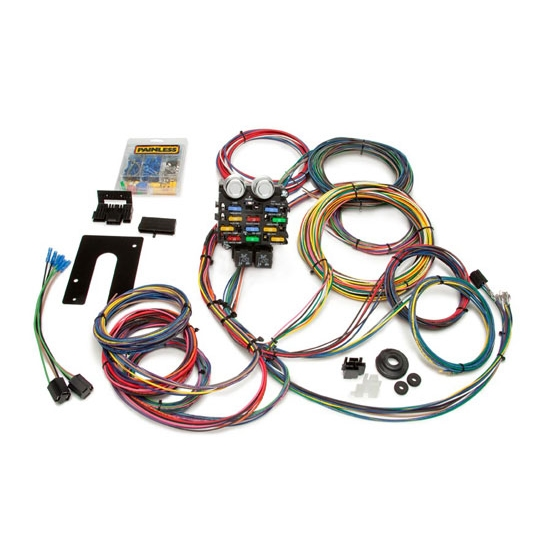 painless wiring 50002 21 circuit pro chassis wiring harness free shipping speedway motors