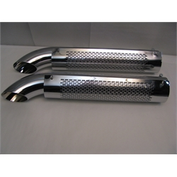 Garage Sale - Chrome Extensions With Heatshields and Mufflers, 3-1/2 X 26 Inch