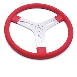 Garage Sale - 15 Inch Flat Aluminum Steering Wheel, Red