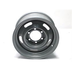 Garage Sale - Speedway GM Style 15X7 Inch Rally Wheel, 6 on 5-1/2 BP, Silver Painted